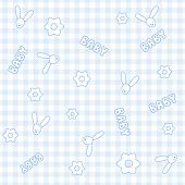 Baby seamless pattern (vector)