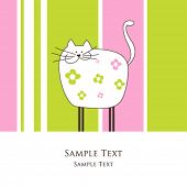 Cat -greeting card