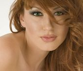 Beautiful Redheaded Woman Portrait Closeup