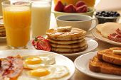 pic of breakfast  - Breakfast foods - JPG