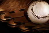 Baseball and glove/Sepia