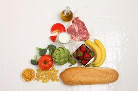 foto of food pyramid  - Food Pyramid - JPG