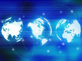 stock photo of world-globe  - world map - JPG
