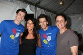 LOS ANGELES - OCT 1:  Adam Gregory, Nadia Bjorlin, Brandon Beemer, Christian LeBlanc arriving at the
