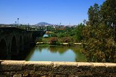 Roman Bridge Over Guadiana River