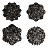 Vector Stamp Without Text. Set Of Stamps . Black Stamps . Grunge Rubber Texture Stamp . Distressed S poster