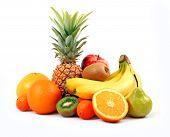 beautiful composition from fresh fruit