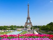 Eiffel Tower From Trocadero At Spring, Paris, France poster