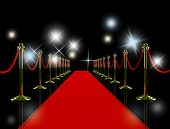 stock photo of night-club  - Red carpet at night - JPG