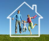 Fly Happy Family With The Dream House
