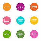 Overcoming Icons Set. Flat Set Of 9 Overcoming Vector Icons For Web Isolated On White Background poster