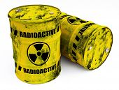 foto of radium  - radioactive barrels - JPG