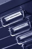 Your Information Label On Filing Cabinet