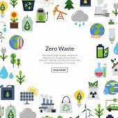 Vector Background With Place For Text And With Ecology Flat Icons. Ecology Environment, Nature Energ poster