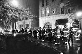 New York Firemen At Scene Of Fire