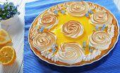 Постер, плакат: Classic French Lemon Tart On A Table