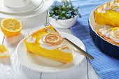 Постер, плакат: French Lemon Tart In A Baking Dish