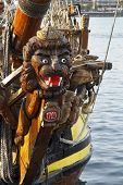 The Russian Replica Galleon The Shtandart, Docked In Dordrecht