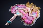 Girl lay in ball joint doll cosplay costume
