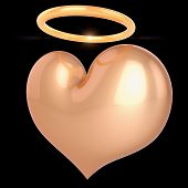 Saint Love Heart Shape Icon Golden poster