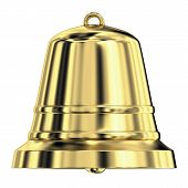 Shiny Golden Bell,frontal View