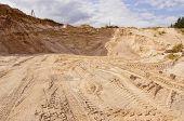 pic of nonrenewable  - Sand pit - JPG