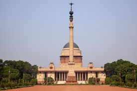 stock photo of rashtrapati  - Rashtrapati Bhavan Official Residence President New Delhi India Designed by Edwin Lutyens and completed in 1931 - JPG