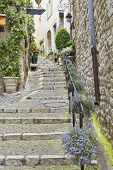 Street In The Medieval City Of Saint Paul De Vence