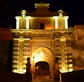 Main Gate To The Medieval City Of Mdina - Malta