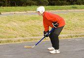 Hockeyball Player
