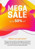 Colorful Geometric Abstract Shapes.mega Sale Liquid Forms, Dynamical Forms, Flowing Lines. Bright Or poster