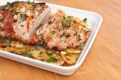 Boneless Pork Loin Roast with Herbed Pepper Rub