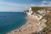 Landscape Photo Of The Beach At Durdle Door In Dorset. poster