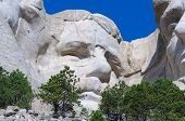 face on Mount Rushmore National Memorial