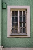 Window  - A Historic Tenement House In A Side Street Of Old Poznan poster