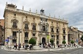 GRANADA, SPAIN - MAY 19: Palacio de la Chancilleria in Granada, Spain on May 19, 2012 in Granada, Spain. Nowadays, this mannerist building is the seat of the High Court of Andalusia