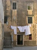 Laundry Hanging In Croatia