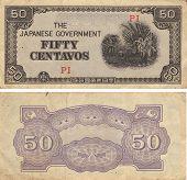 Cinqüenta Centavos de Japão Segunda Guerra Mundial