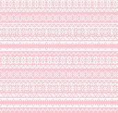Christmas Snowflakes Fair Isle Seamless Pattern poster