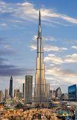 Amazing panoramic view on Dubai futuristic skyline, Downtown Dubai, United Arab Emirates poster