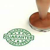 Guarantee Stamp Shows Assurance And Risk Free
