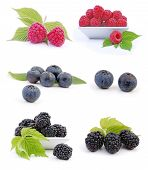 Blueberries, Raspberries And Blackberries