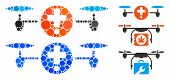 Quadcopter Pharmacy Composition Of Circle Elements In Various Sizes And Shades, Based On Quadcopter  poster