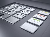 pic of automatic teller machine  - ATM machine keypad numbers - JPG