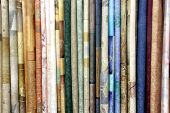 Row Of Textile Materials
