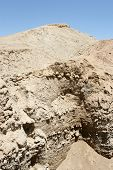 stock photo of jericho  - The excavated ruins of the biblical city of Old Jericho in Israel - JPG