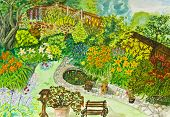 Hand Painted Picture, Garden