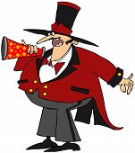 Ringmaster with a megaphone