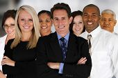pic of black tie  - Business Team of Mixed Races at Office - JPG