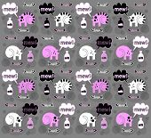 cats on a gray background